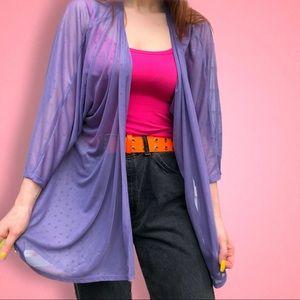 Lularoe Lilac Purple Lindsay sheer Cardigan Kimono
